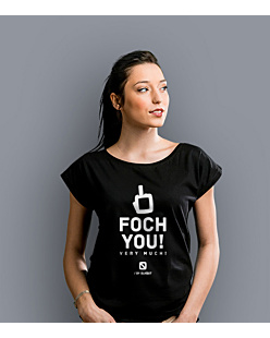 Foch You Very Much T-shirt damski Czarny XS