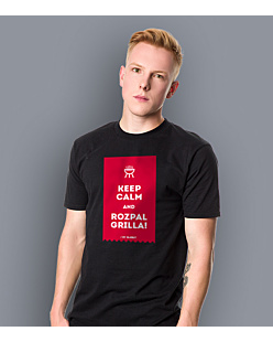 KEEP CALM and ROZPAL GRILLA T-shirt męski Czarny S