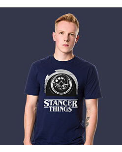 Stancer Things T-shirt męski Granatowy S