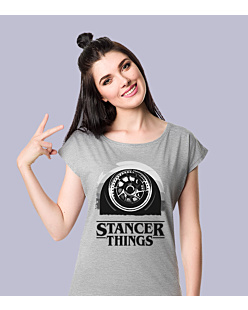 Stancer Things T-shirt damski Jasny melanż XS