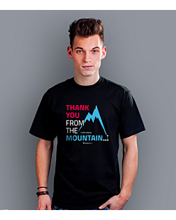 Thank you mountain T-shirt męski Czarny S