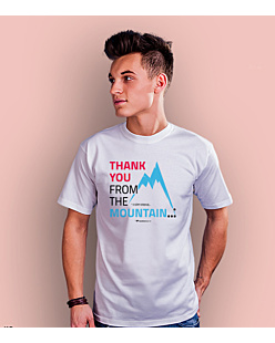 Thank you mountain T-shirt męski Biały S