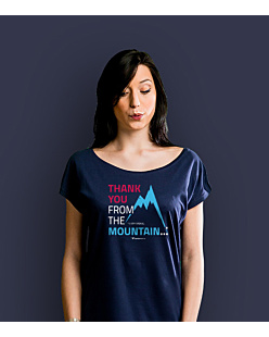 Thank you mountain T-shirt damski Granatowy XXL
