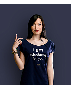 I am shaking for you T-shirt damski Granatowy XS