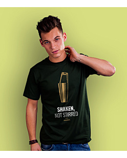 Shaken, not stirred T-shirt męski Ciemnozielony S