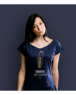 Shaken, not stirred T-shirt damski Granatowy XS