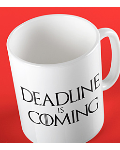 Deadline is Coming Kubek Biały Universal