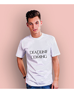 Deadline is Coming T-shirt męski Biały S