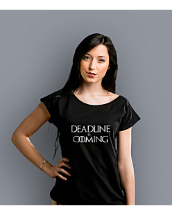 Deadline is Coming T-shirt damski Czarny S