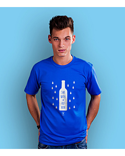 Save water Buy wine T-shirt męski Niebieski S