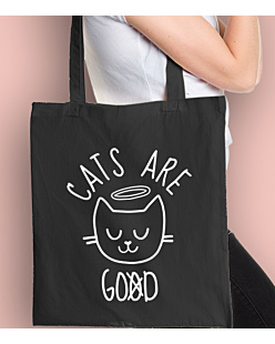 Cats are Good Torba na zakupy Czarna Universal