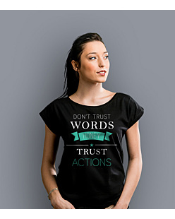 Don't trust words honey T-shirt damski Czarny S