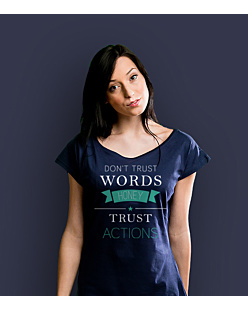 Don't trust words honey T-shirt damski Granatowy XS