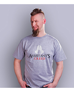 Assistant's Creed T-shirt męski Jasny melanż S