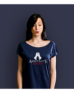 Assistant's Creed T-shirt damski Granatowy XS