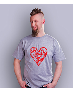 Games in my heart T-shirt męski Jasny melanż S