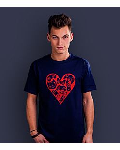 Games in my heart T-shirt męski Granatowy XXL