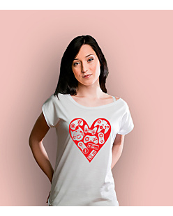 Games in my heart T-shirt damski Biały XXL