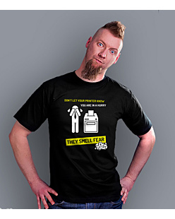 Printer smell fear T-shirt męski Czarny S