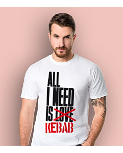 ALL I NEED IS KEBAB T-shirt męski Biały S