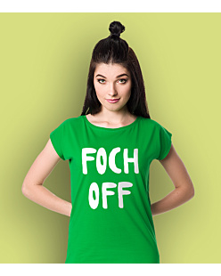 Foch OFF T-shirt damski Zielony XS