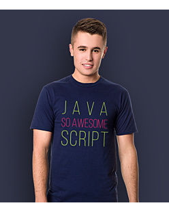 Java So Awesome Script T-shirt męski Granatowy S