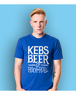 Kebs and Beer T-shirt męski Niebieski XXL