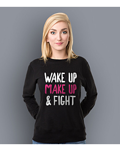 Wake Up Make Up & Fight Bluza prosta damska Czarna XXL