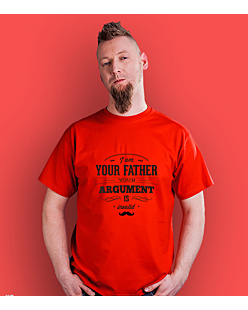 I'm your Father argument T-shirt męski Czerwony S