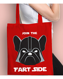 Join the fart side Torba na zakupy Czerwona Universal