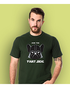 Join the fart side T-shirt męski Ciemnozielony S
