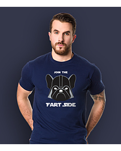 Join the fart side T-shirt męski Granatowy S