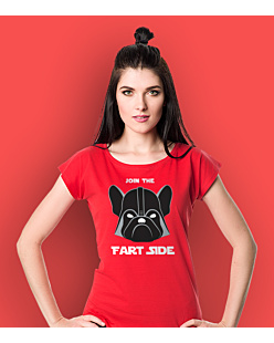 Join the fart side T-shirt damski Czerwony XS