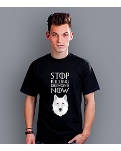 Stop killing direwolves now T-shirt męski Czarny S