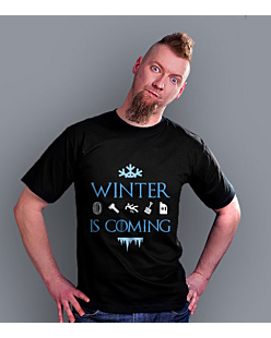 Winter is coming  T-shirt męski Czarny S