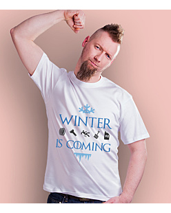 Winter is coming  T-shirt męski Biały S