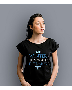 Winter is coming  T-shirt damski Czarny XS
