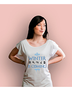 Winter is coming  T-shirt damski Biały XS
