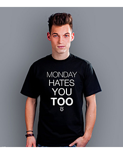 Monday hates you too T-shirt męski Czarny S