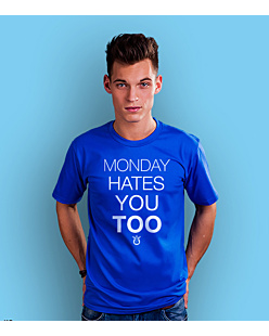Monday hates you too T-shirt męski Niebieski S