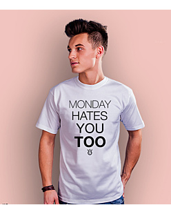 Monday hates you too T-shirt męski Biały S