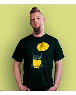 Batman Shut Up T-shirt męski Ciemnozielony S