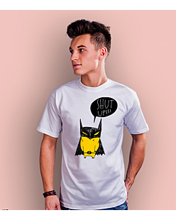 Batman Shut Up T-shirt męski Biały S