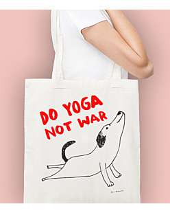 Do Yoga Not War Dog Torba na zakupy Naturalna Universal