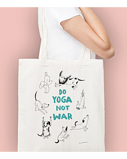 Do Yoga Not War Dogs Torba na zakupy Naturalna Universal