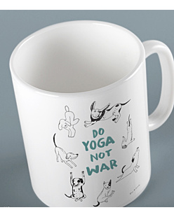 Do Yoga Not War Dogs Kubek Biały Universal
