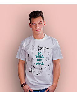 Do Yoga Not War Dogs T-shirt męski Biały S