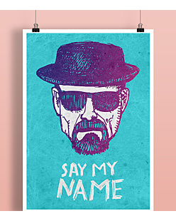 Say My Name Heisenberg Plakat Czarny A2