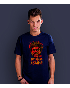 SAY WHAT AGAIN!  T-shirt męski Granatowy S