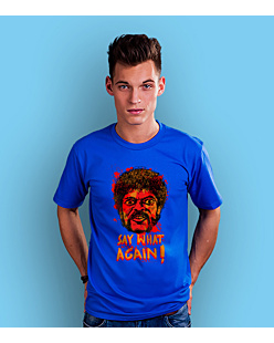 SAY WHAT AGAIN!  T-shirt męski Niebieski S